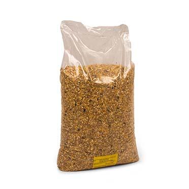 Mixed poultry corn plain white bag  20KG