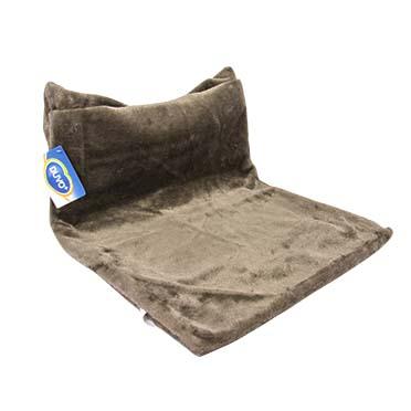 Radiator hangmat plush kort Grau 45x31x26cm