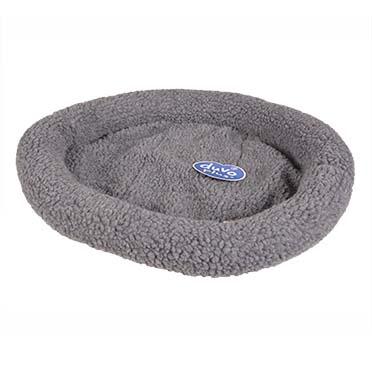 Sheepskin oval basket Grey 50x35cm