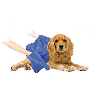 Dog bath towel microfiber Blue 40x60cm