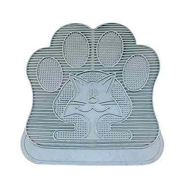 Catlitter mat rubber Grey 49x34cm