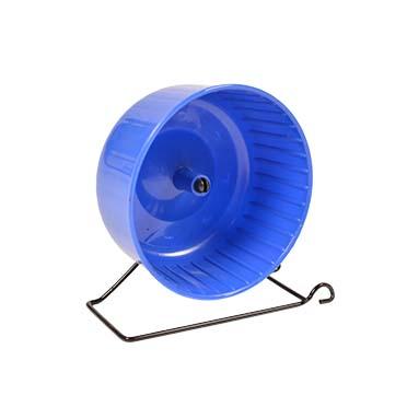 Hamsterwheel with standard Blue/grey 14x7CM