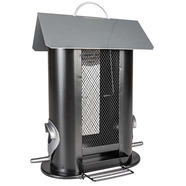Metal food dispenser for nuts 2 sides Black 21x13,5x24cm