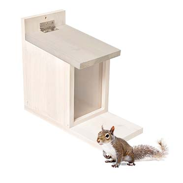 Squirrel feeder house White cottage 27x23x12,5cm