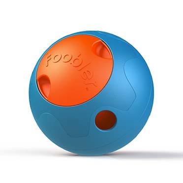 Foobler treat dispenser with timer Blue