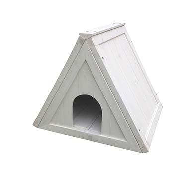 Woodland shelter triangle cottage White 50x42x42CM