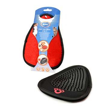 Coat care glove 2 in 1 Black/red 21x15cm