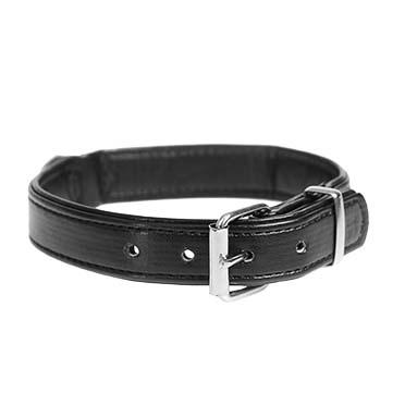 Chic cuirette collier Noir 18-23cm/14mm