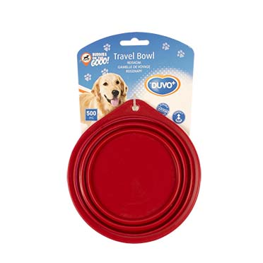 Silicone travel bowl Red 14CM