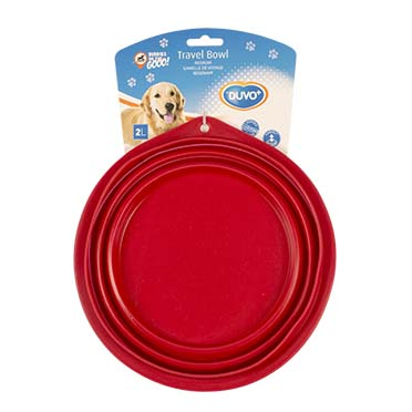 Silicone travel bowl Red 22CM