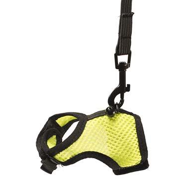 Small animal walking vest Yellow/green S - 5x8x2cm