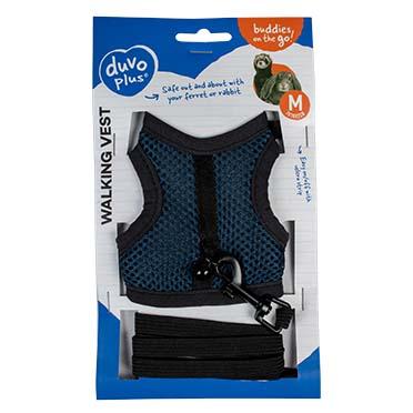 Small animal walking vest Blue M - 7x10x2cm