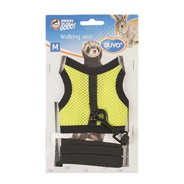 Small animal walking vest Yellow/green M - 7x10x2cm