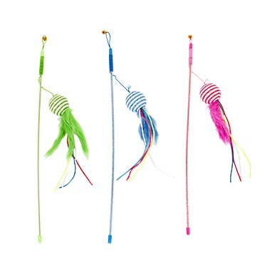 Playing rod feathered ball mix  46cm