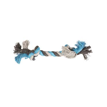 Tug toy knotted rope Blue 15cm