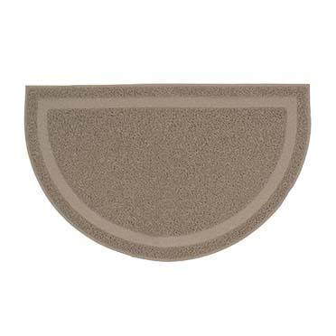 Cat litter mat half-round Grey 60x37cm