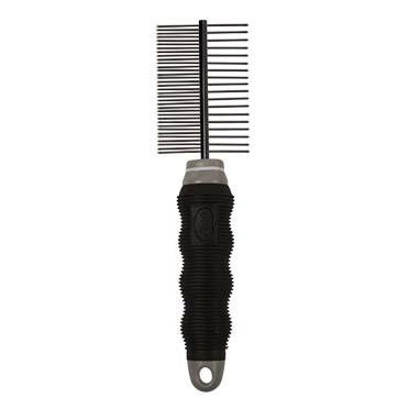 Duo entwirrungskamm 35+18 zahne Schwarz/grau 35+18 pins