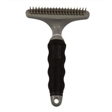 Dematting rake 20+19 pins - double Black/grey 20+19 pins