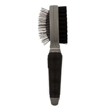 2-in-1 grooming brush Black/grey Small