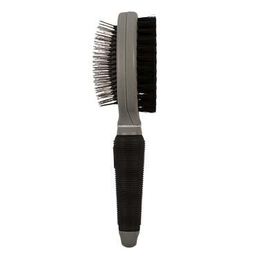 2-in-1 grooming brush Black/grey Large