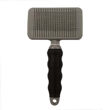 Slicker brush self cleaning Black/grey Large
