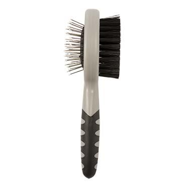 2-in-1 grooming brush Black/grey