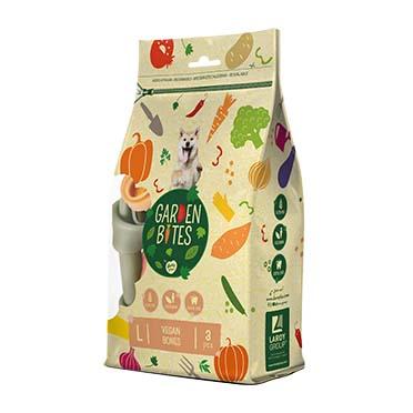 Garden bites vegan bones large pouch Mixed colors 14,5cm - 3pcs