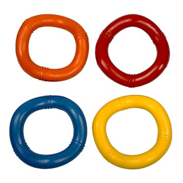 Rubber wavy ring mix Mixed colors 15cm