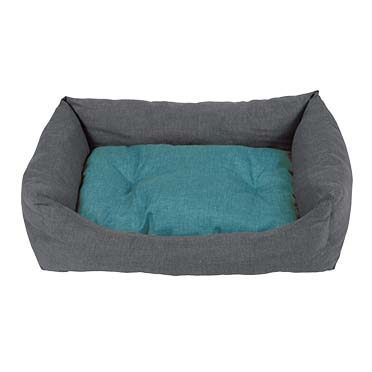 Bed rectangular stone Turquoise/grey 45x30cm