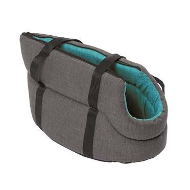 Travel bag stone Turquoise/grey 40cm