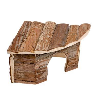 Small animal corner lodge bark  22x22x13CM