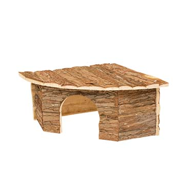 Small animal corner lodge bark  30x30x16CM