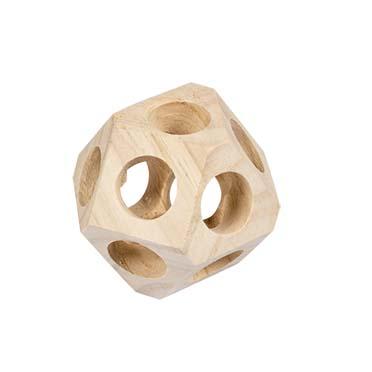 Wooden play ball  10x10x10CM