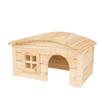 Small animal wooden lodge dome roof  27x17x15CM
