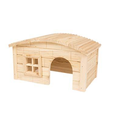 Knaagdieren houten lodge koepeldak 27x17x15CM