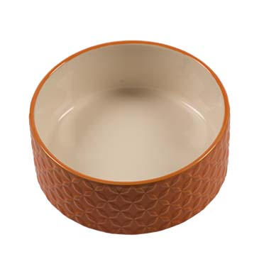 Feeding bowl stone deco naranja Orange Ø13cm