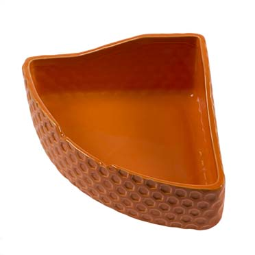 Feeding bowl corner stone deco naranja Orange 23x16x11,5cm