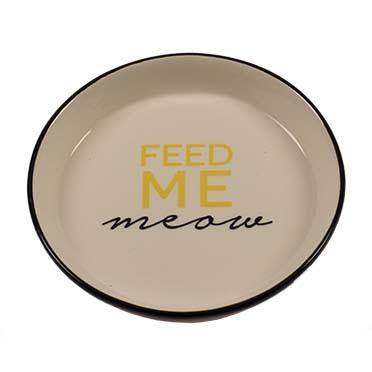 Feeding bowl stone feed me meow Black Ø13,8cm - 180ml