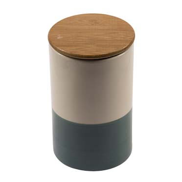 Cookie jar stone nordic Petrol 13x13x20cm - 1800ml