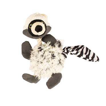 Plush racoon with rope fluffy  21cm