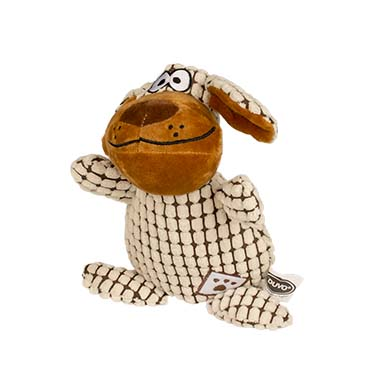 Plush dog fluffy with flat ears  26cm