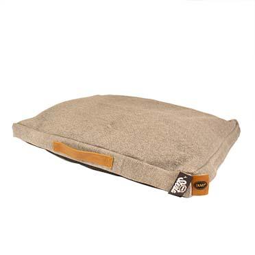 Heavy cotton block coussin siesta walnut  75x55x10cm