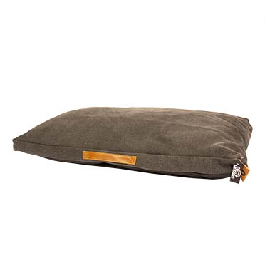 Heavy cotton block pillow siesta oyster Anthracite 75x55x10cm