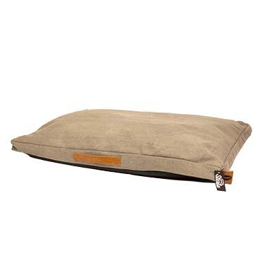 Heavy cotton block coussin siesta  walnut  110x70x12cm