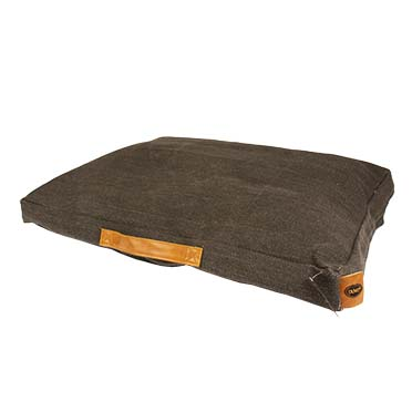 Heavy cotton block pillow siesta oyster Anthracite 110x70x12cm