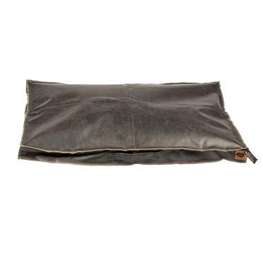 Leatherette block coussin siesta caviar Noir 110x68x10cm