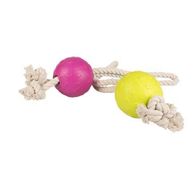 Foam bal met touw  30cm
