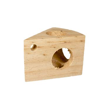 Wooden cheese small animal toy