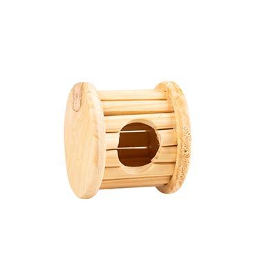 Wooden bobbin small animal toy