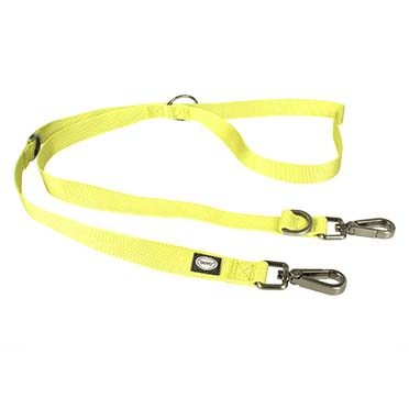 North duo leash nylon Neon yellow 200cm/25mm